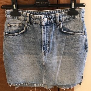 H&M Denim Skirt light blue